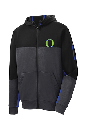 Iowa Outlaws Mens Performance Fleece FullZip Jacket