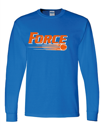 Force Softball Long Sleeve Tee (Full Logo)