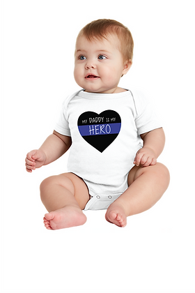 Back the Blue Hero Daddy/Mommy Onesie