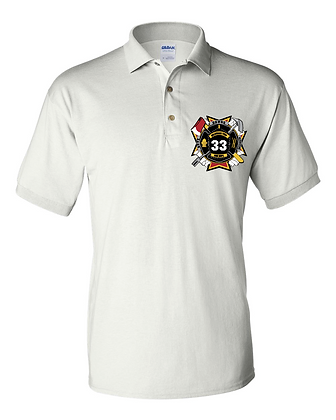 DTFD Polo Shirt (Officers Only)  - White