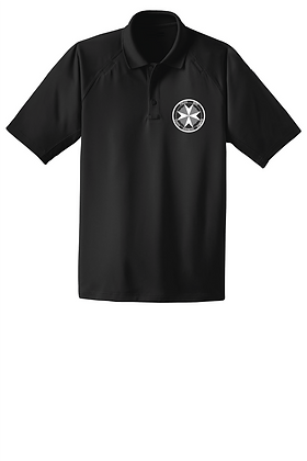 SERT Dry-Fit Tactical Polo - Black - Screen Printed
