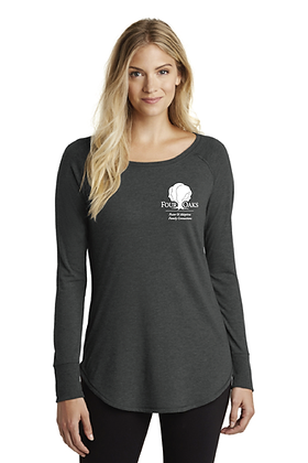 Four Oaks Triblend Tunic - Black Frost