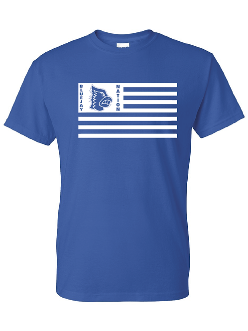 Bluejay Nation Flag Shirt