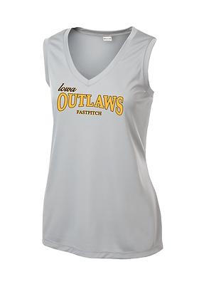 Iowa Outlaws Grey Performance Tank - Women's - Silver