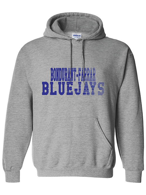 Bluejays Hoodie - Fade Out Logo -Grey