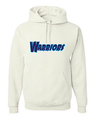 "Warriors Basketball ""Jersey Logo"" Hoodie - White"