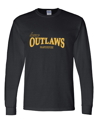 Iowa Outlaws Grey - PERFORMANCE LONG SLEEVE - Black