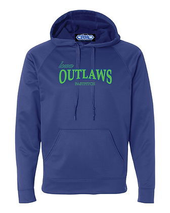 Iowa OUTLAWS Fastpitch PERFORMANCE HOODIE - ROYAL BLUE