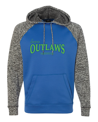 Iowa OUTLAWS Fastpitch COSMIC PERFORMANCE HOODIE - CHARCOAL