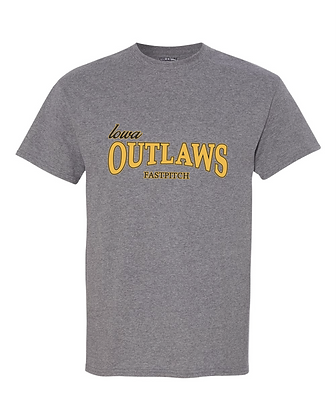 Iowa Outlaws Grey T-Shirt Grey