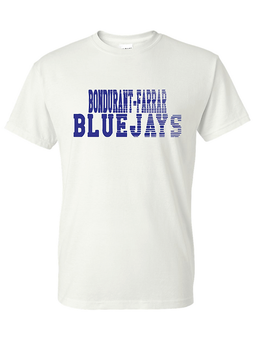 B-F Bluejays Fade Out - White
