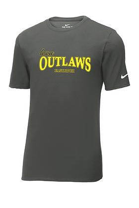 "Outlaw Grey ""Full Logo"" Nike Core Cotton Tee"
