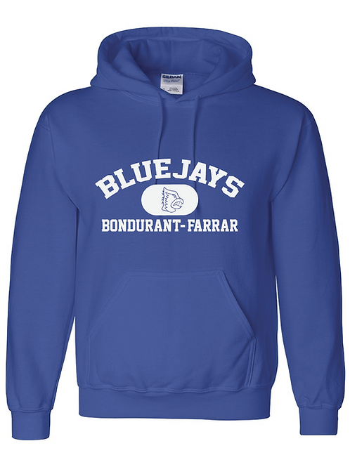 Bluejays Performance Hoodie - Classic Logo - Blue