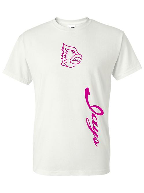 Pink Jays - White