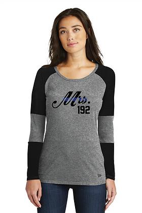 Back the Blue Mrs. Custom Shield Baseball LS Tee