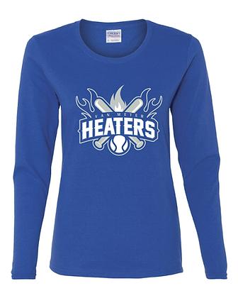 VM Heaters Womens Long Sleeve T -ROYAL BLUE