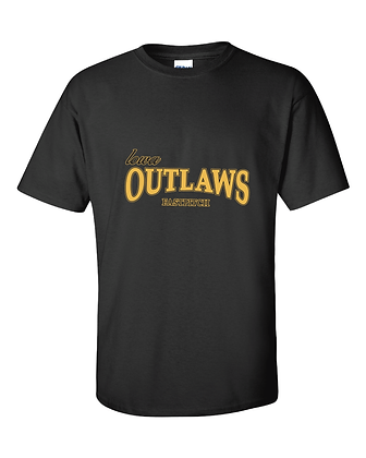 Iowa Outlaws Grey T-Shirt Black