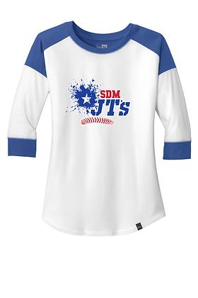 SDM JT's Womens Heritage Blend 3/4 Sleeve Raglan