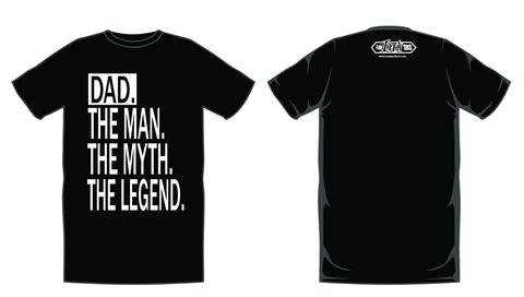 Dad. The Man, The Myth, The Legend - RAW INK TEES ORIGINAL