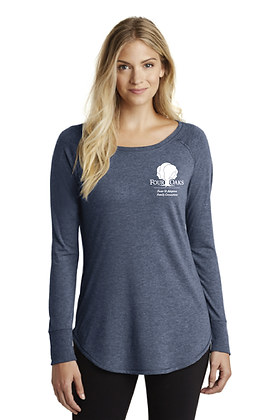 Four Oaks Triblend Tunic - Navy Frost