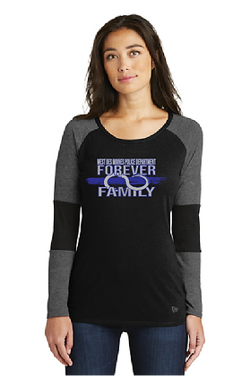 WDMPD Forever Family Baseball LS Tee