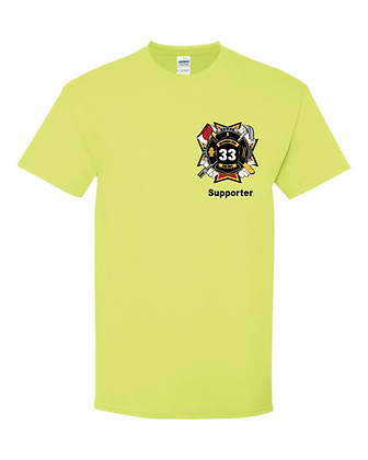DTFD Supporter T-Shirt - Safety Green