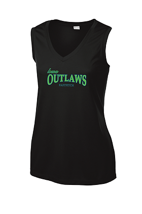 Iowa OUTLAWS Fastpitch PERFORMANCE TANK - BLACK
