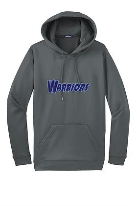 "Warriors Performance Hoodie ""Jersey Logo"" - Smoke Grey"