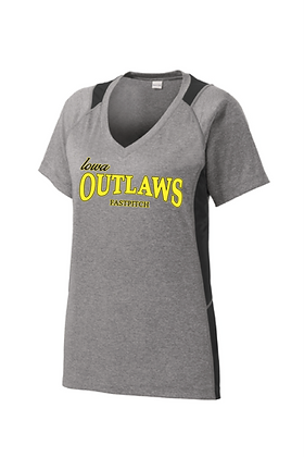 Iowa Outlaws Grey - Performance T- Women's