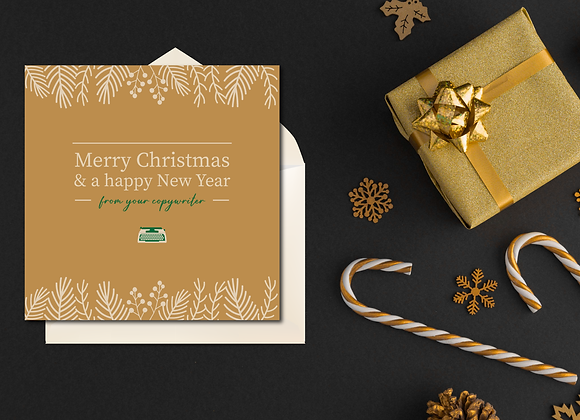 Merry Christmas From Your Copywriter | Square Card