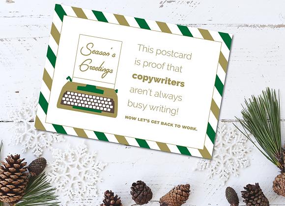 Typewriter Xmas Card for Copywriters