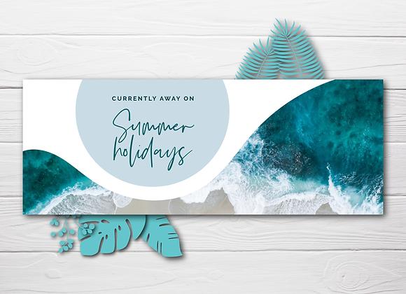 Summer Holidays Social Header: Blue Ocean