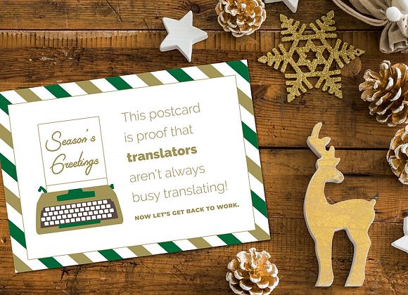 Typewriter Xmas Card for Translators
