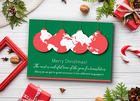 World Xmas Card for Translators