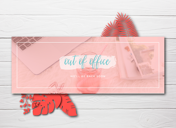 Out of Office Summer Header: Coral Delight