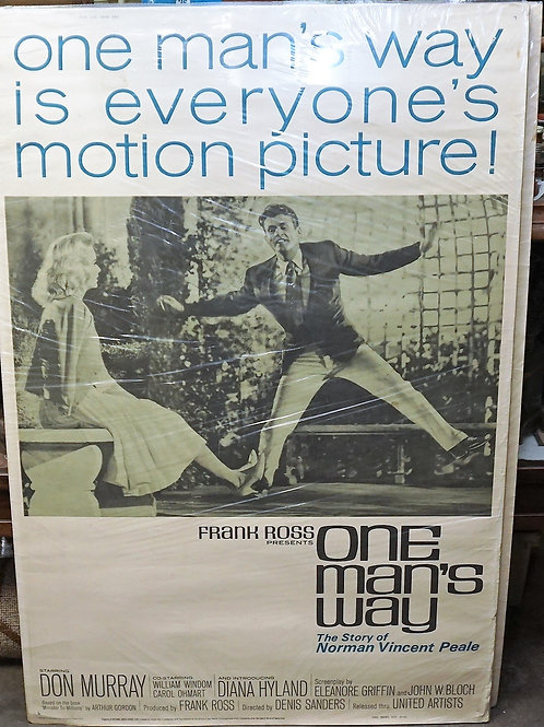 1950s-60s Movie Poster - One Man's Way