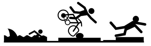 Natation Vélo Course pour rire
