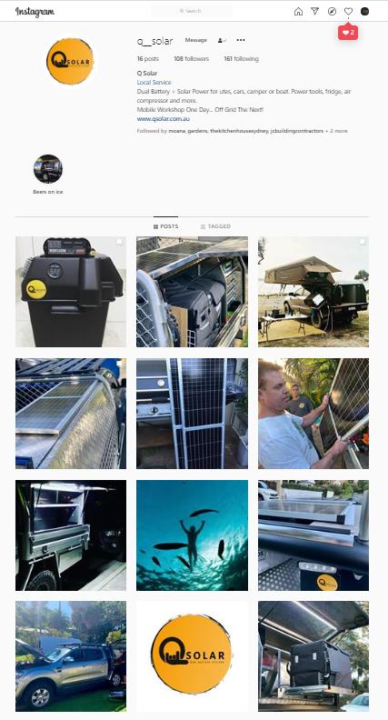 Q Solar Instagram