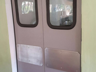 Portas ABS da Imperial Portas Flexíveis, na empresa Irrigabras
