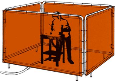 Lona para biombo de solda - Proteção no processo de soldagem