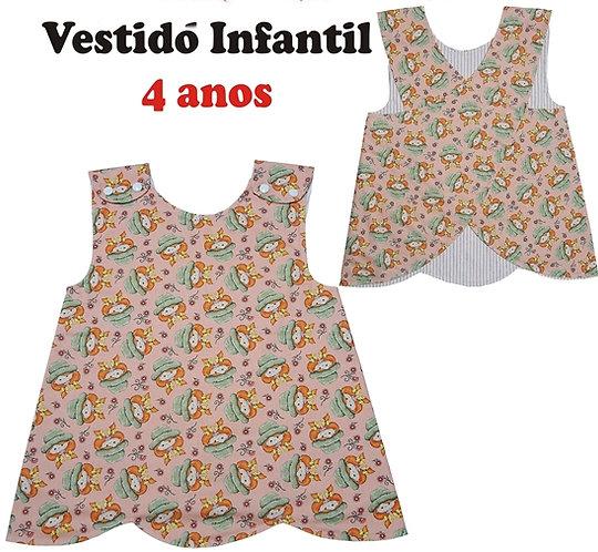 Molde Vestido Infantil - idade 4 anos