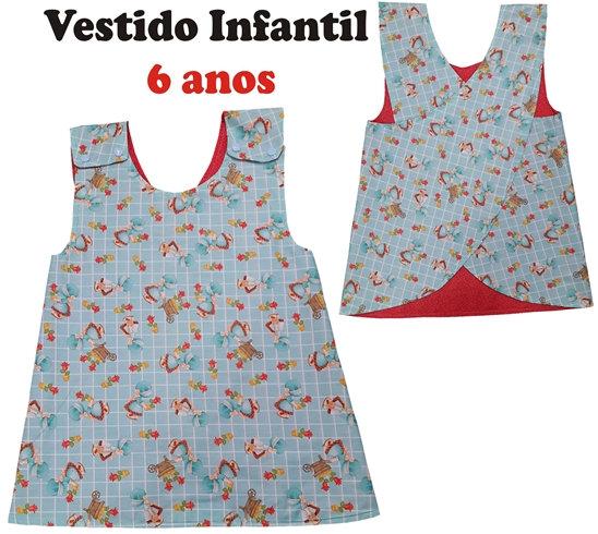 Molde Vestido Infantil - idade 6 anos