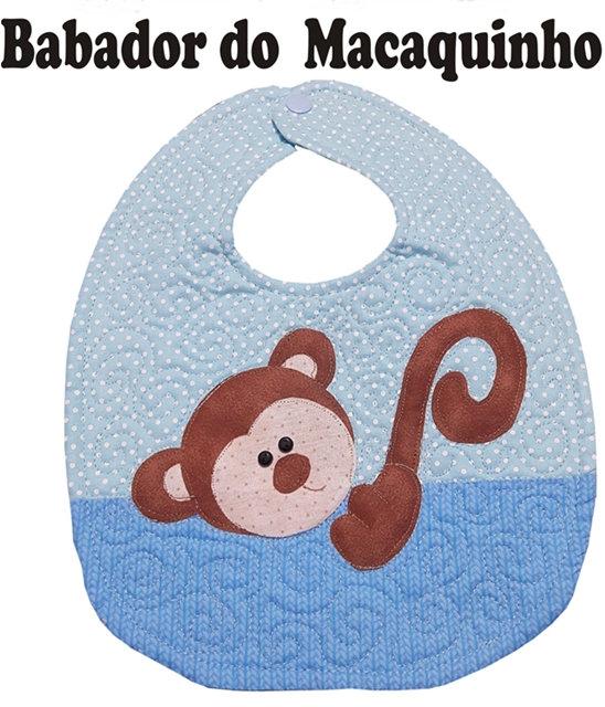 Molde Babador Figura Macaquinho