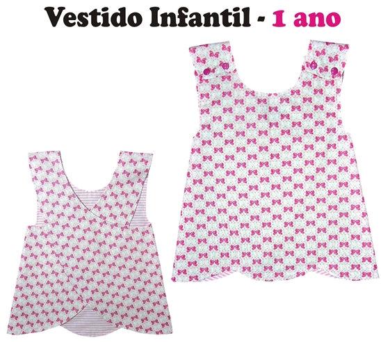 Molde Vestido infantil - idade 1 ano