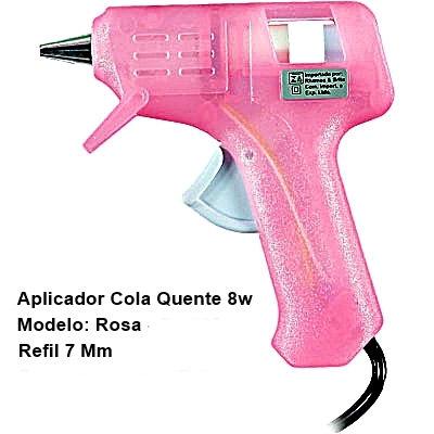 Pistolas de Cola Quente - cor Rosa