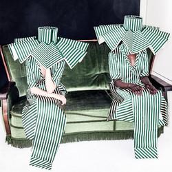 Great #fashion #designs by _brittabentele #amfi. #model _elissert hiding on the left