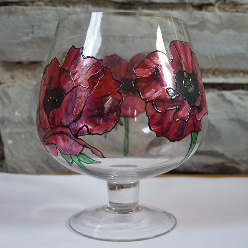 Large Brandy Vase Poppy