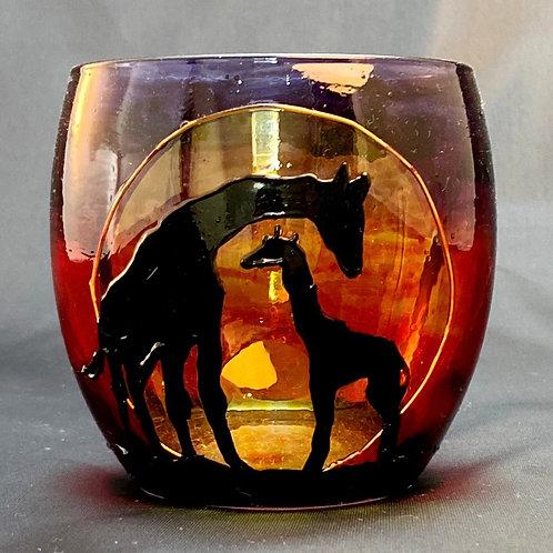 Savannah Giraffe Tealight Design 2
