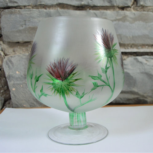 Large Brandy Vase Thistle