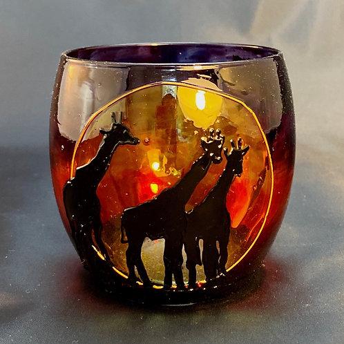 Savannah Giraffe Tealight Design 1